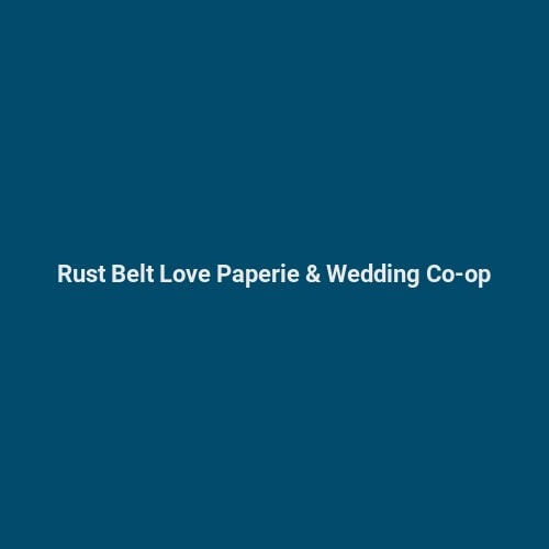 Rust Belt Love Paperie Wedding Co Op