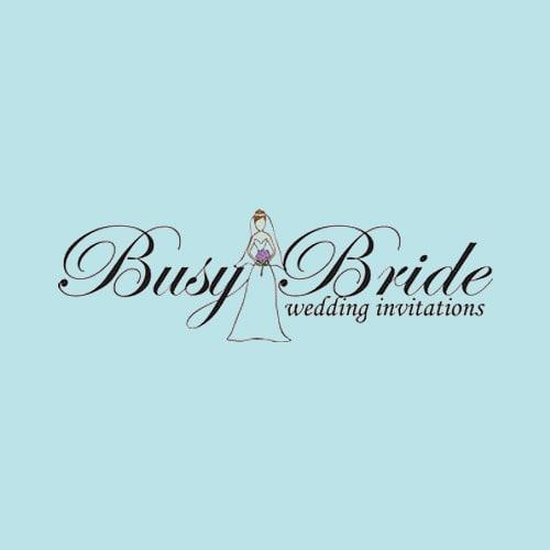 Busy Bride Wedding Invitations
