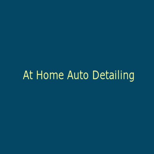 At Home Auto Detailing