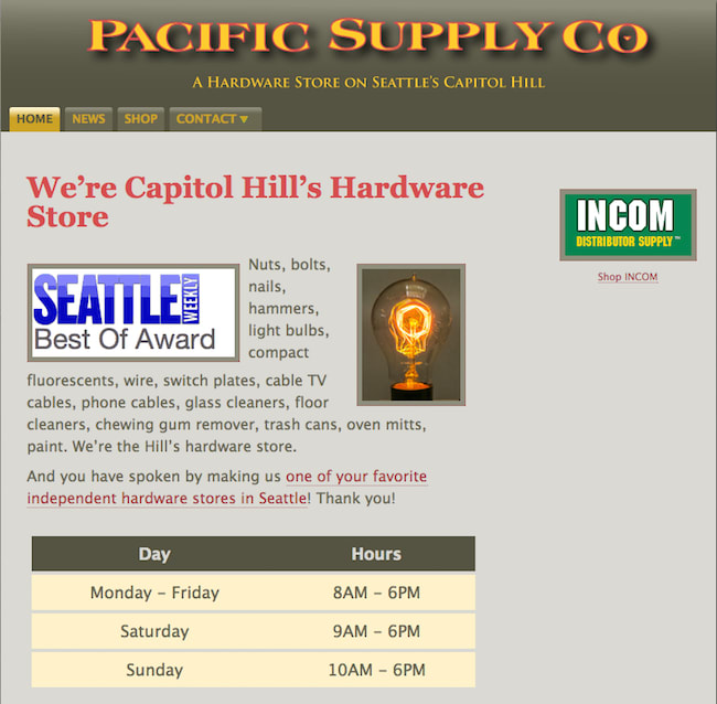 Seattle Hardware Store
