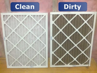 Comparison of clean & dirty air filters