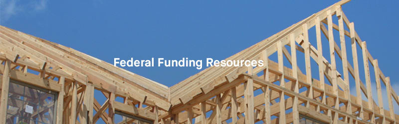 Federal Funding Resources Header: Image of home structure